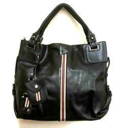1 pc Women's Black Hand Bag Leather Bags Handbag Shoulder Ho