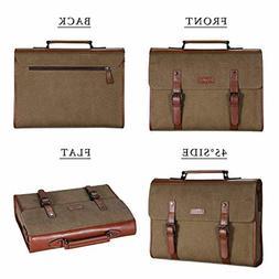Banuce 13.3 inch Laptop Messenger Bag for Men Vintage Canvas