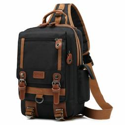 13 Inch Canvas Crossbody Bags Messenger Chest Bag Pack Sling