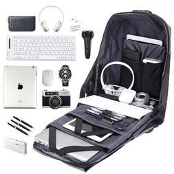 "15.6"" Laptop Messenger Bag/Backpack Anti-Theft TSA Lock USB"