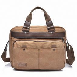 15 Inch Canvas Laptop Messenger Bag Shoulder Sleeve Briefcas
