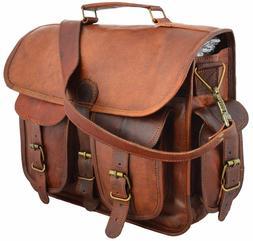 """15"""" Large Leather MESSENGER bag for men shoulder bag Mens La"""