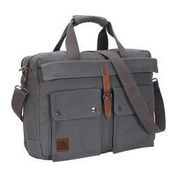 17 inch Canvas Laptop Computer Bag Messenger Bag Multi-Compa