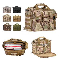 17'' Laptop  Tactical Briefcase Computer Shoulder Handbag Me
