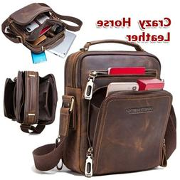 2019 New Men's Leather Shoulder Messenger Bag Casual Briefca