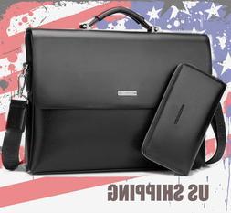 2020 Business Men Leather Briefcase Bag Handbag Laptop Shoul