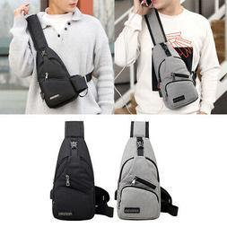 2Pcs Mens Sling Bag Anti Theft Travel Outdoor Lightweight Cr