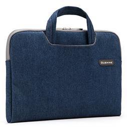 13-13.3''Laptop Briefcase Sleeve,Portable Canvas Jean Fa