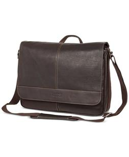 7aa5a9b56 Kenneth Cole Reaction Colombian Leather Single Gusset Messenger Bag ...