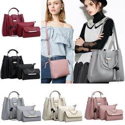 3pcs/sets Women's Leather Handbag Ladies Shoulder Bags+Clutc