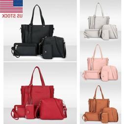 4pcs set women ladies leather handbag shoulder