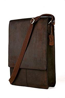 Cuero 15 inch Retro Buffalo Hunter Leather Laptop Messenger