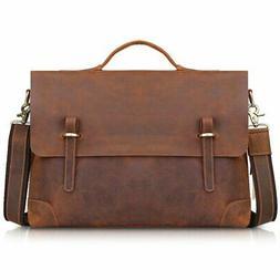 Kattee Genuine Leather Messenger Bag Tote, Leisure 15 Inch L