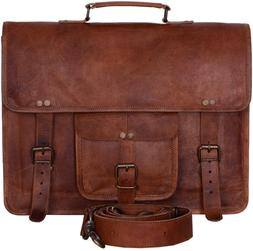 Komal's Passion Leather Vintage 15 Inch Laptop Messenger Bag