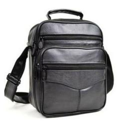 Men's Leather Crossbody Messenger Shoulder Bags Satchel Smal