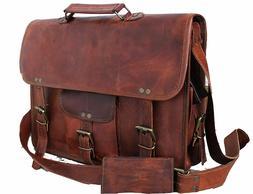 Mens-Genuine-Vintage-Leather-Satchel-Messenger-Man-HandBag-L