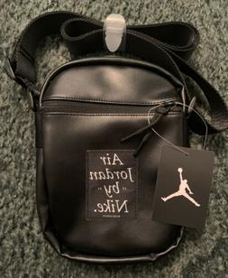 Nike Air Jordan Black Crossbody Shoulder Messenger Bag New