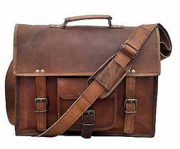 All Large Mens Genuine Vintage Leather Messenger Shoulder La