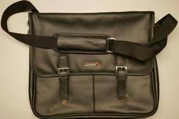 Alpine Swiss Leather Briefcase Laptop Case Messenger Bag Bla