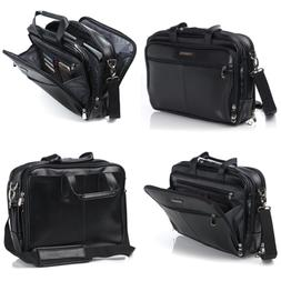 Alpine Swiss Monroe Leather Briefcase Top Zip Laptop Messeng