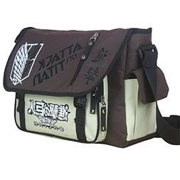 Siawasey Anime Attack on Titan Cosplay Messenger Bag Handbag