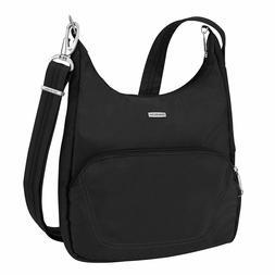 Travelon Anti-Theft Classic Essential Messenger Bag Black On
