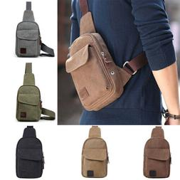 Anti-Theft Men Chest Messenger Sling Bag Casual Shoulder Sma