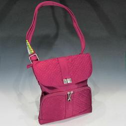 Travelon Anti-Theft Signature Messenger Bag - Cranberry