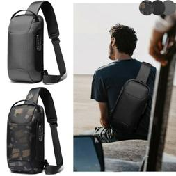Anti-theft Sling Backpack Men's USB Chest Bag Waterproof Tra
