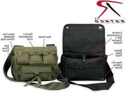 Army OD Green & Black Military Shoulder Bag Messenger Bag Cr