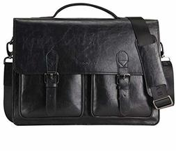 Banuce Faux Leather Briefcase for Men Business 14 Inch Lapto