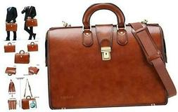 Banuce Leather Lawyer Bag for Men Doctor Briefcase Attache C