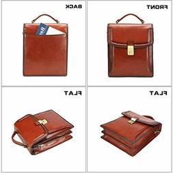 Banuce Small Full Grains Italian Leather Messenger Bag for M
