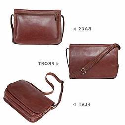 Banuce Vintage Full Grains Italian Leather Messenger Bag for