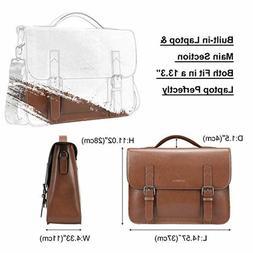 Banuce Vintage Genuine Leather Messenger Bag 13 Inch Laptop