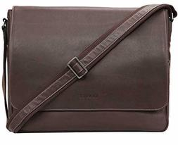 Banuce Vintage Soft Top Grain Leather Messenger Bag for Men