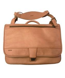 "Hartmann Belting Leather Flapover Messenger Bag 15.6"" Laptop"