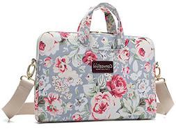 Canvaslove Big Rose Pattern Canvas Laptop Shoulder Messenger