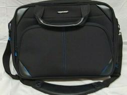 Kroser Black Laptop Messenger Bag Tablet Pouch Three Compart