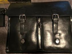 Banuce Black Men's PU Tote Briefcase