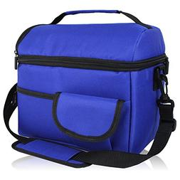 Amoui Blue Insulated Lunch Bag for Men/Women 8L Dinner Lunch