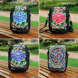 Boho Ethnic Embroidery Bag Vintage Embroidered Canvas Cover