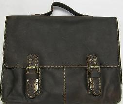 "Briefcase Laptop Bag Fit 14"" Laptop Genuine Leather Kattee M"
