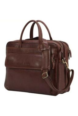 "Banuce Briefcase Men Full Grains Leather 15.6"" Business Lapt"