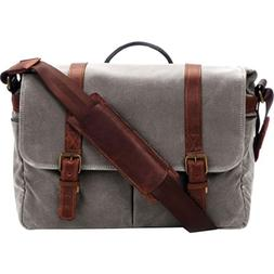ONA - The Brixton - Camera Messenger Bag - Smoke Waxed Canva