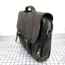 Samsonite Brown Colombian Leather Flap Over Briefcase Messen