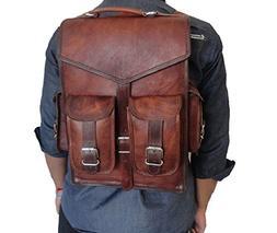 Handmade_World Brown Vintage Leather Backpack Laptop Messeng