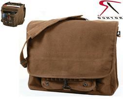 Brown Vintage Military Messenger Bag Paratrooper Stonewashed