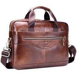 BULLCAPTAIN Genuine Leather Men'S Briefcase Vintage <font><b