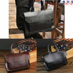 Business Briefcase Men's Leather Handbag Laptop Shoulder Mes